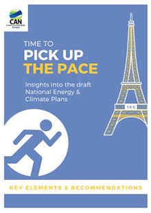 Time to pick up the pace. Insights into the draft national energy and climate plans